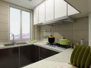 简约四房装修厨房设计图