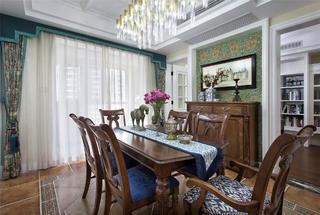 180㎡美式装修餐桌椅图片