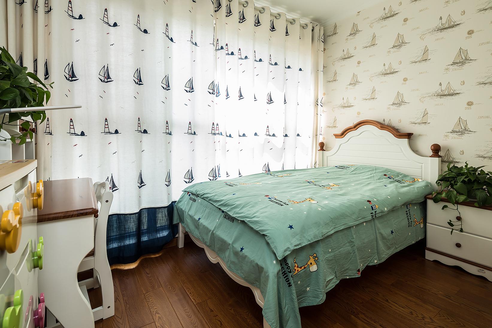 140平美式装修卧室效果图