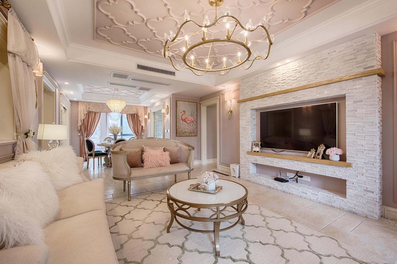 三居室混搭装修客厅效果图