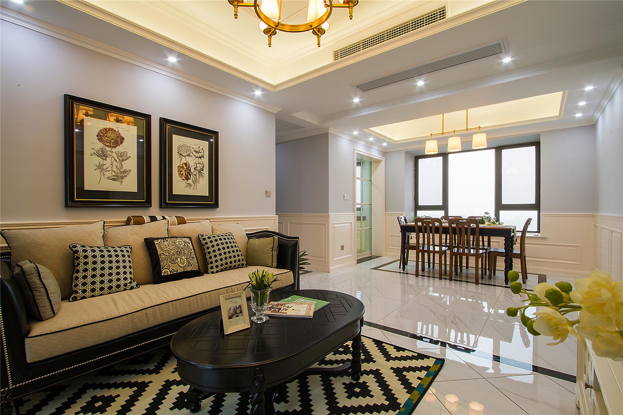 110平三居室设计客餐厅效果图