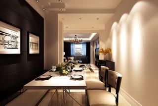 大户型现代风格装修餐厅设计图