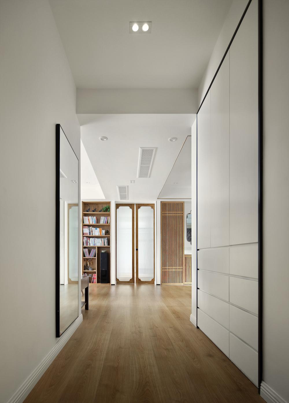 170平中式装修玄关走廊