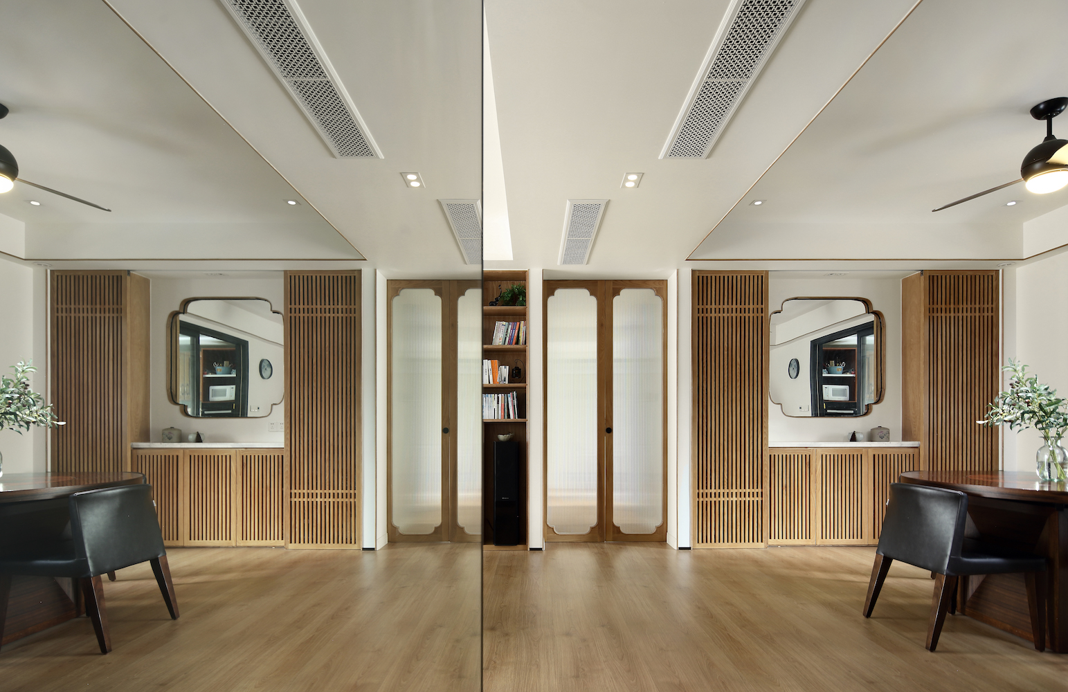 170平中式装修餐边柜设计