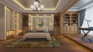 豪华中式装修卧室设计图