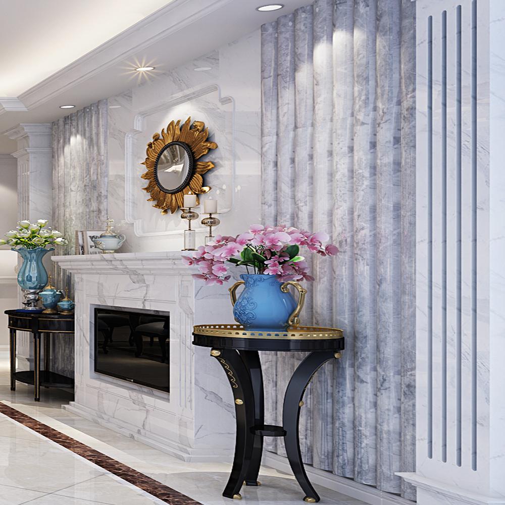 欧式新古典风装修电视背景墙设计