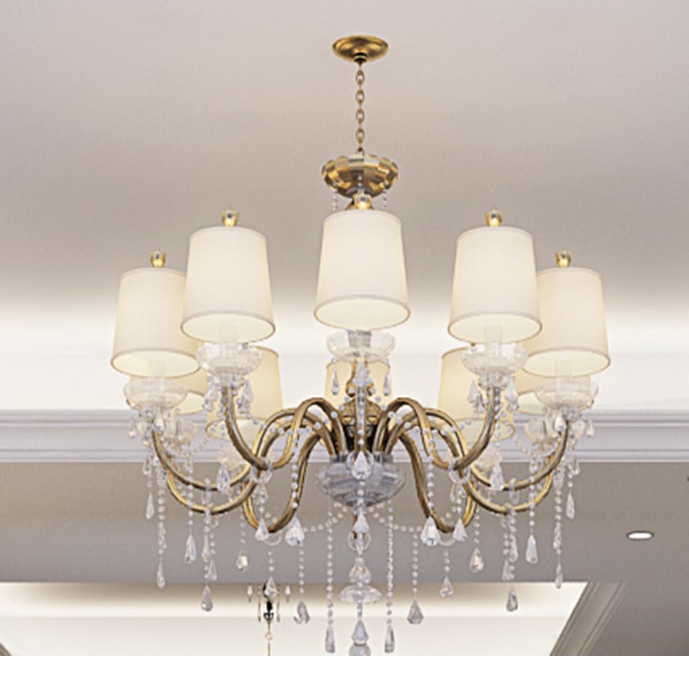欧式新古典风装修水晶灯图片