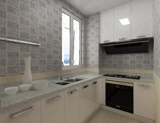 110平简约装修厨房效果图
