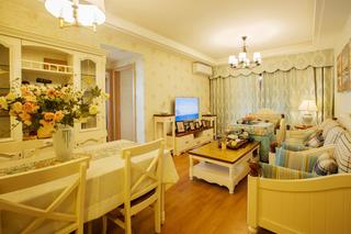 二居室混搭風格裝修客廳效果圖