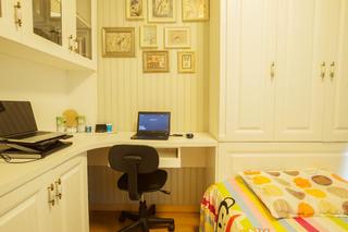 二居室混搭风格装修书房效果图