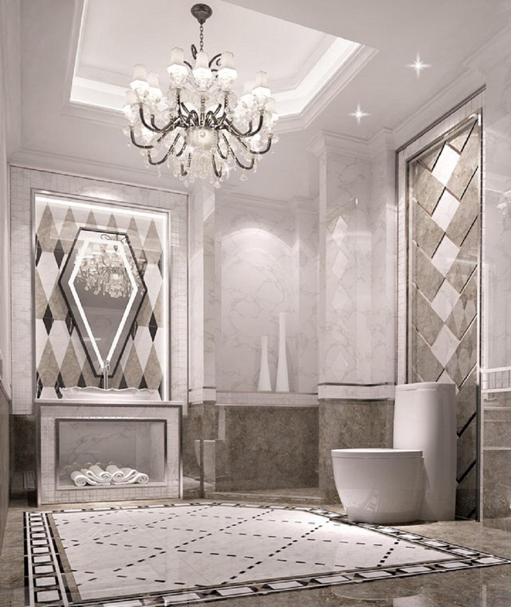 欧式新古典风装修卫生间效果图