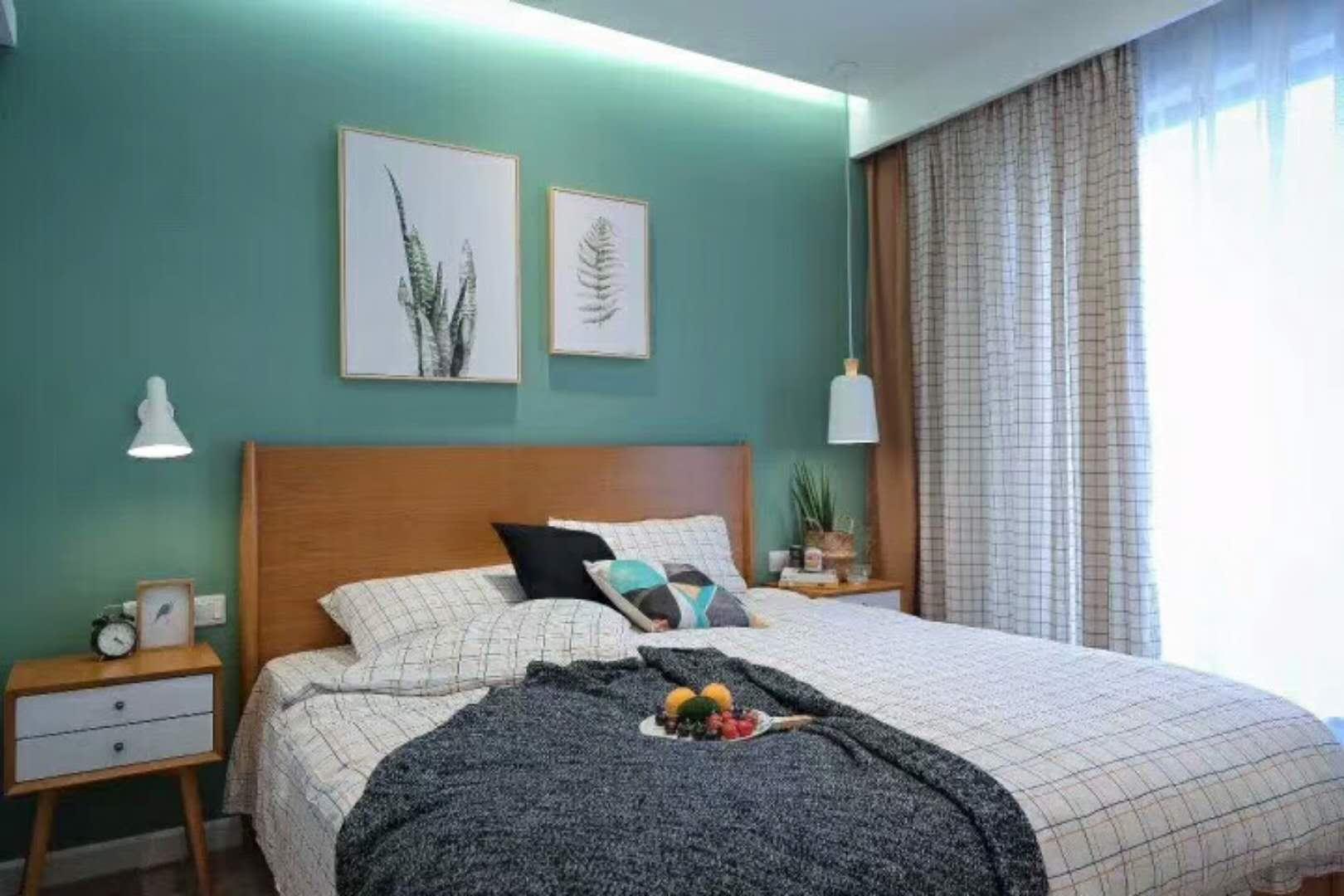 70平清新北欧家装修卧室效果图