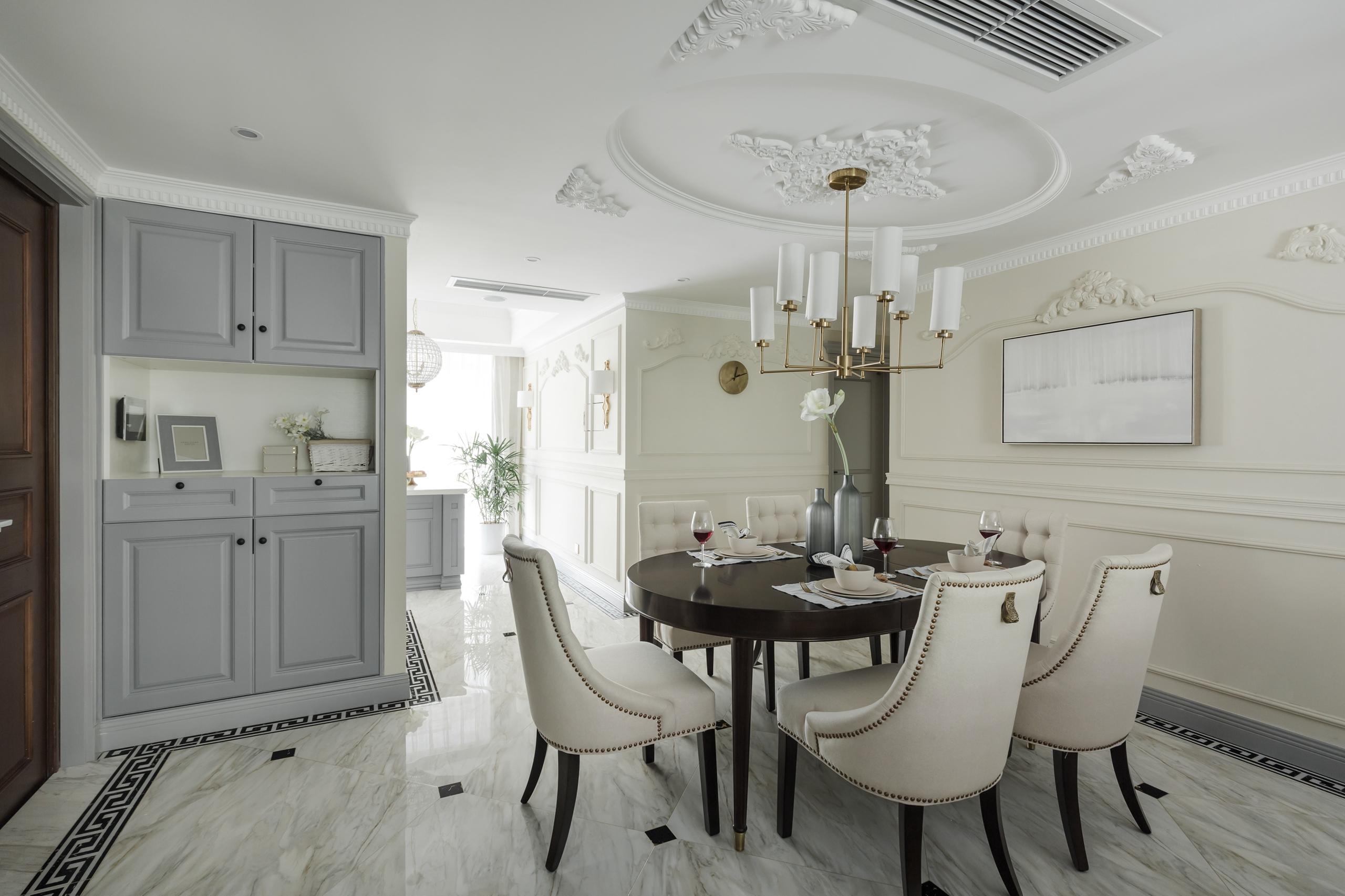 美式三居室设计餐厅效果图