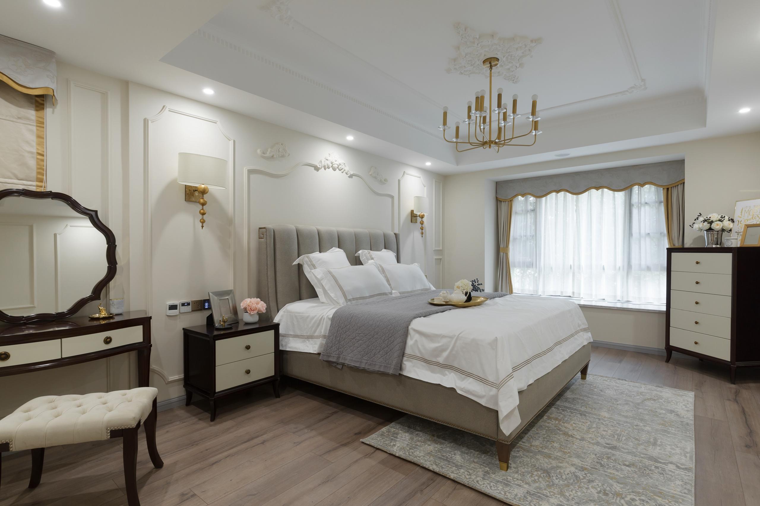 美式三居室卧室效果图