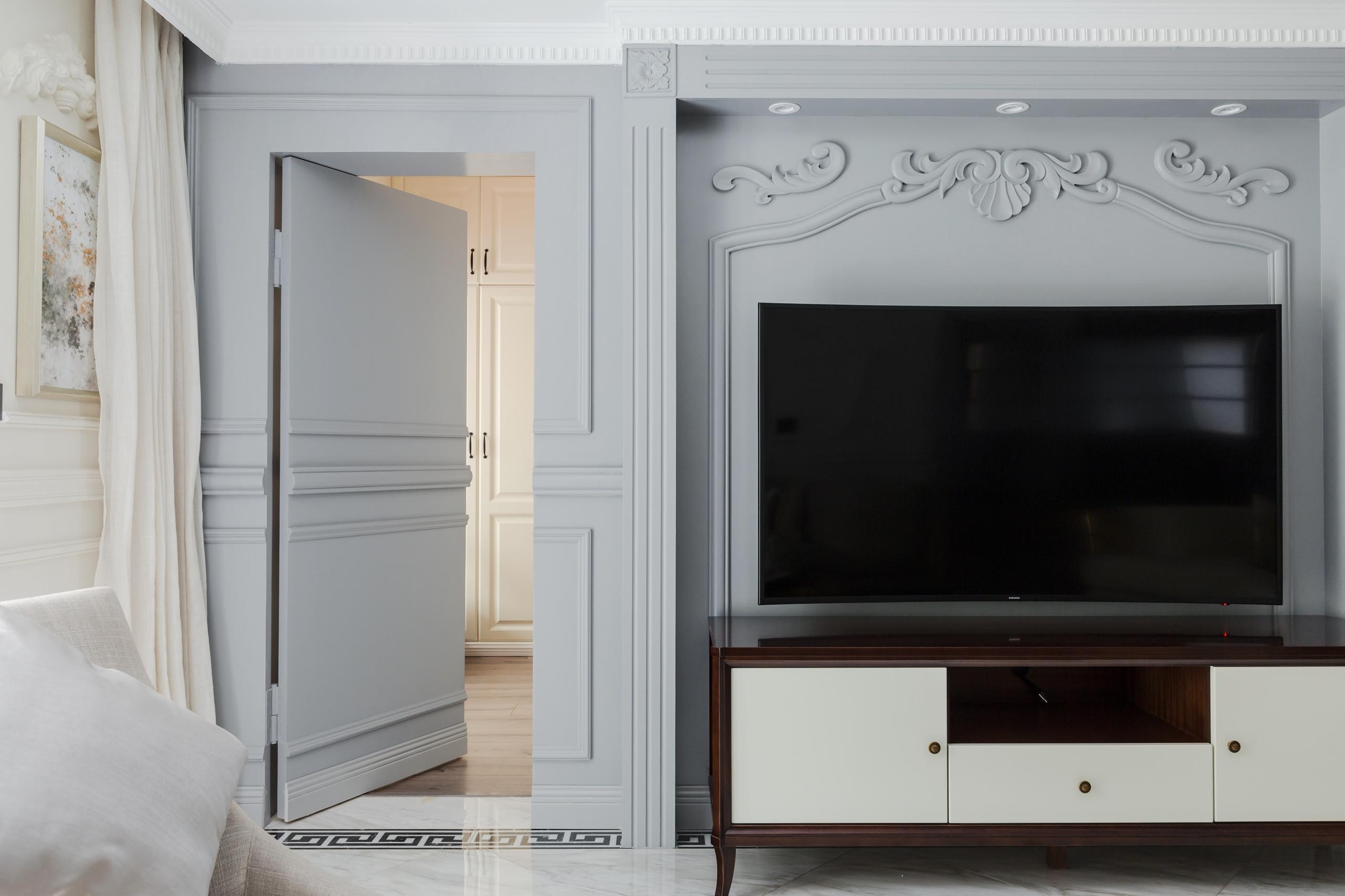 美式三居室电视背景墙设计