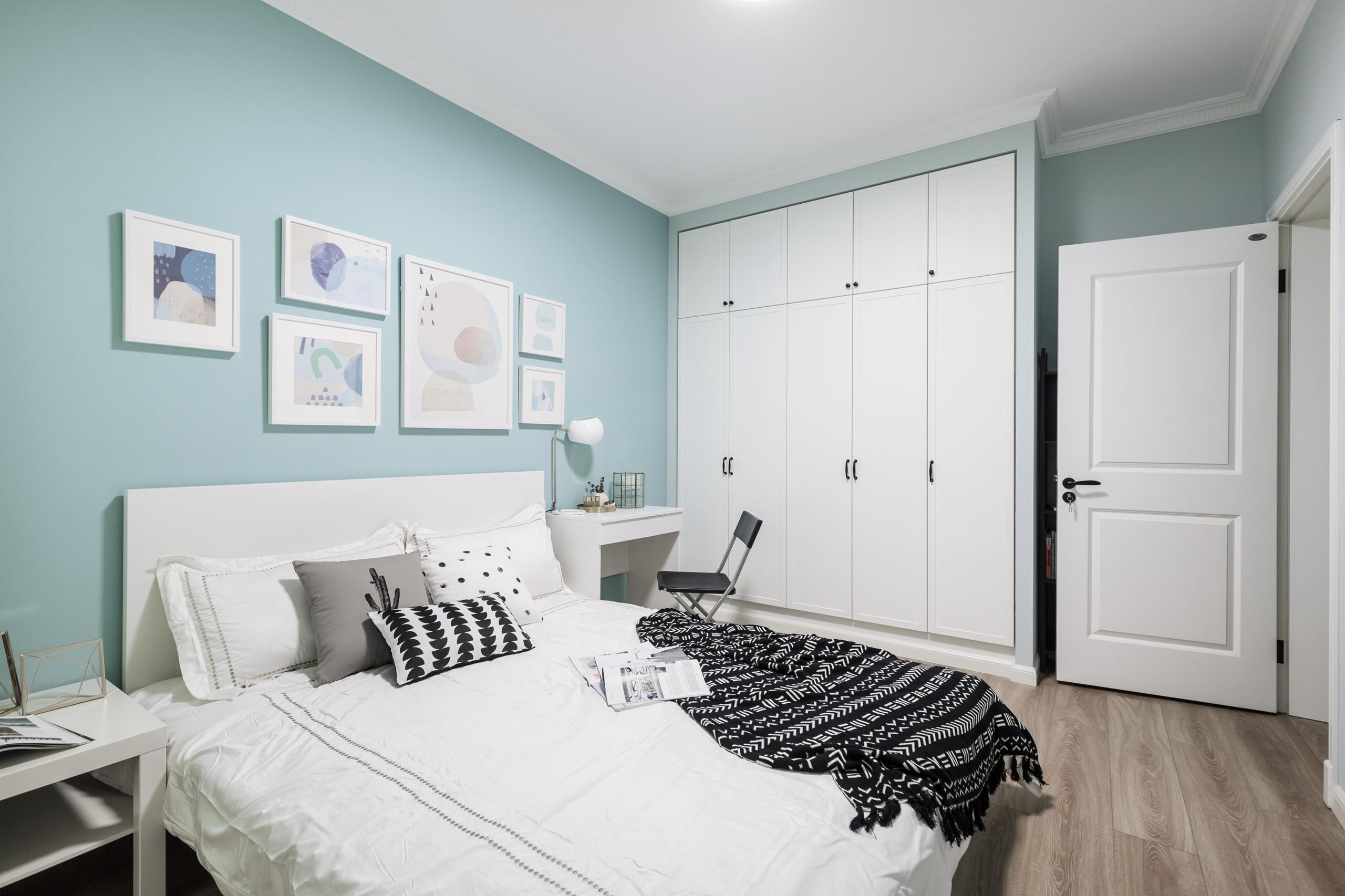 110平北欧风格家卧室效果图