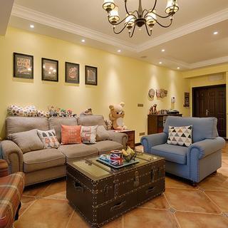 美式四居室装修设计 温暖浪漫