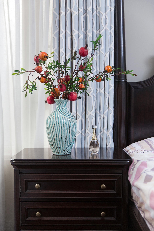 128㎡美式装修床头柜图片