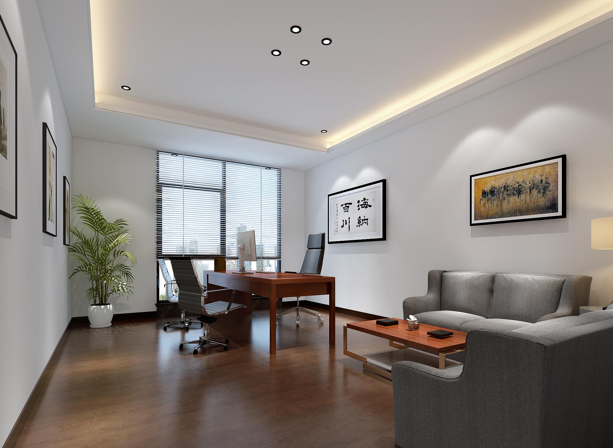 简约舒适的办公室装修效果图(三)