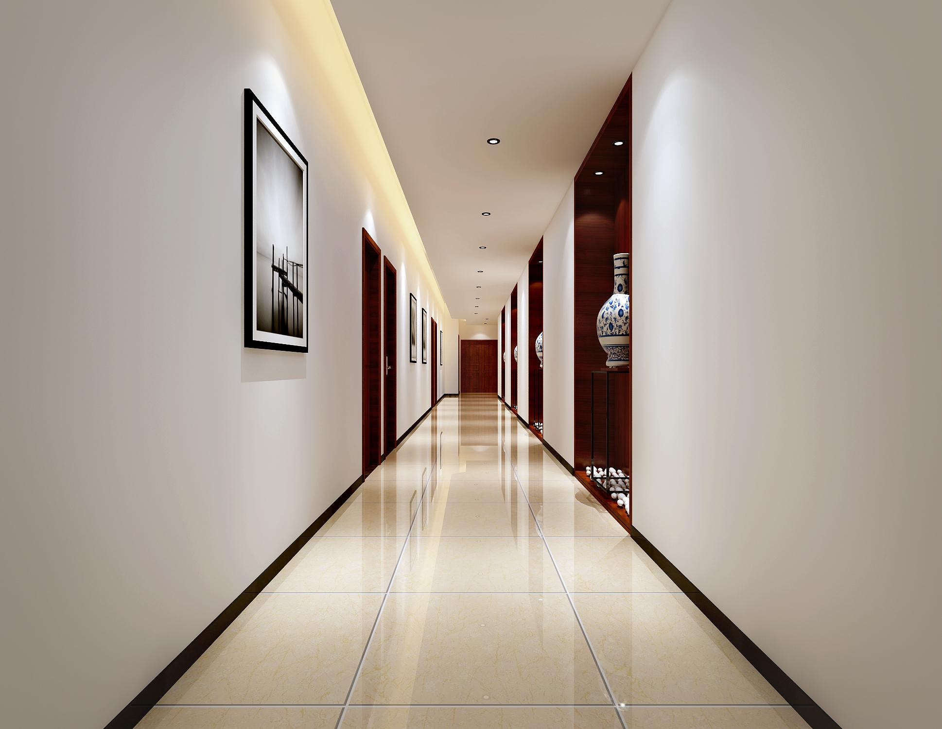 简约舒适的办公室装修走廊图片