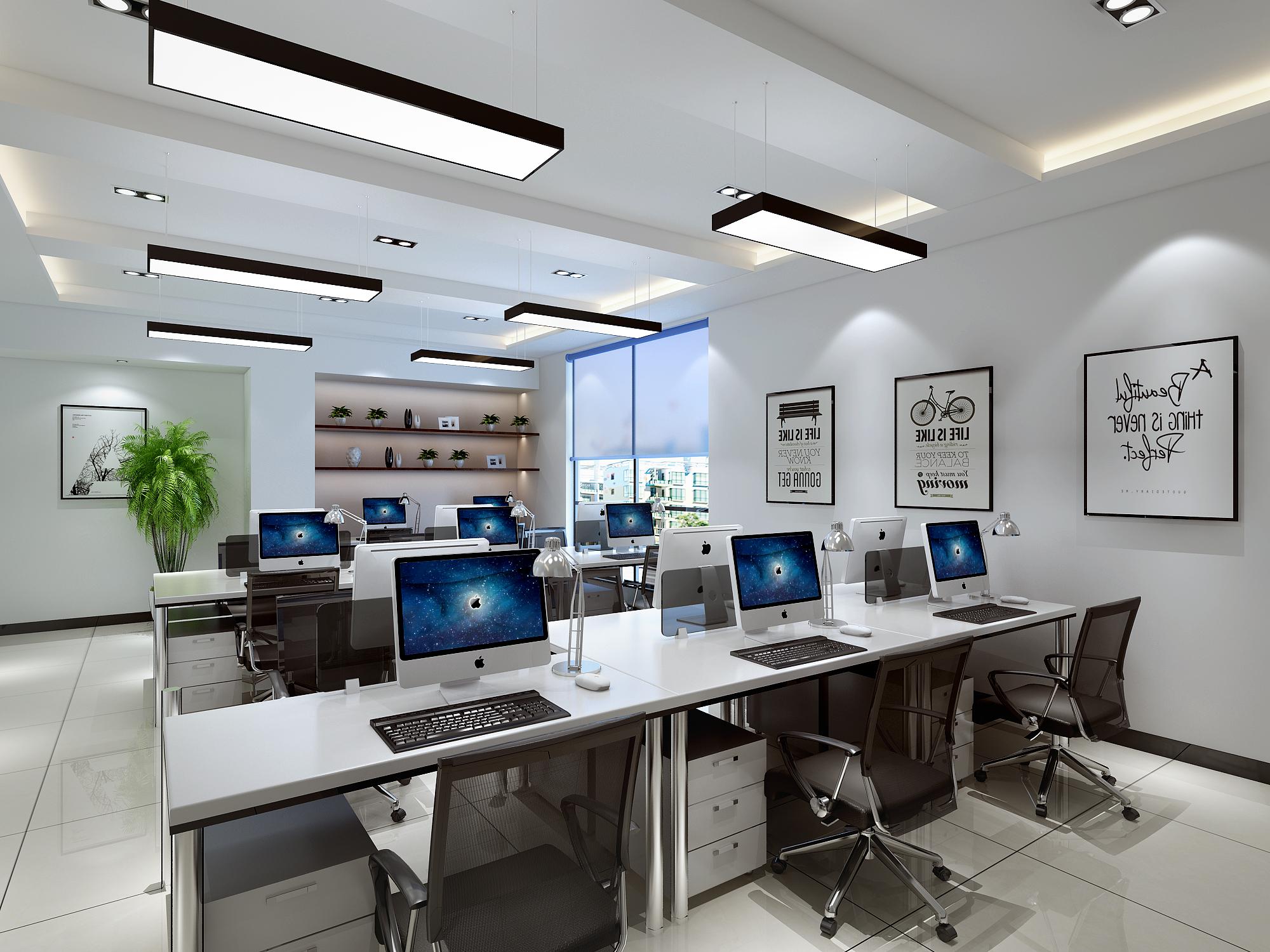 简约舒适的办公室装修效果图(五)