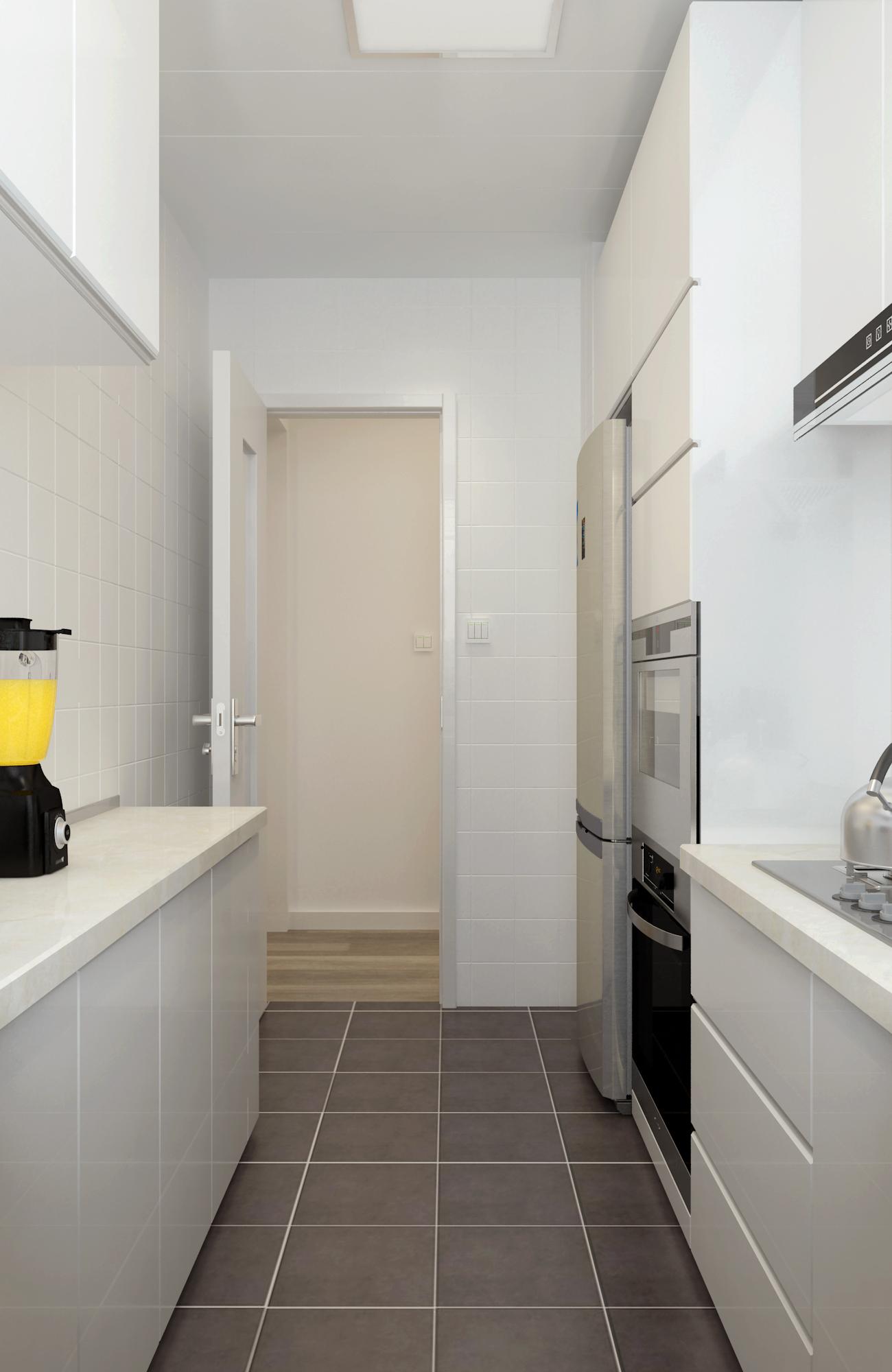 简约三居之家厨房装修图