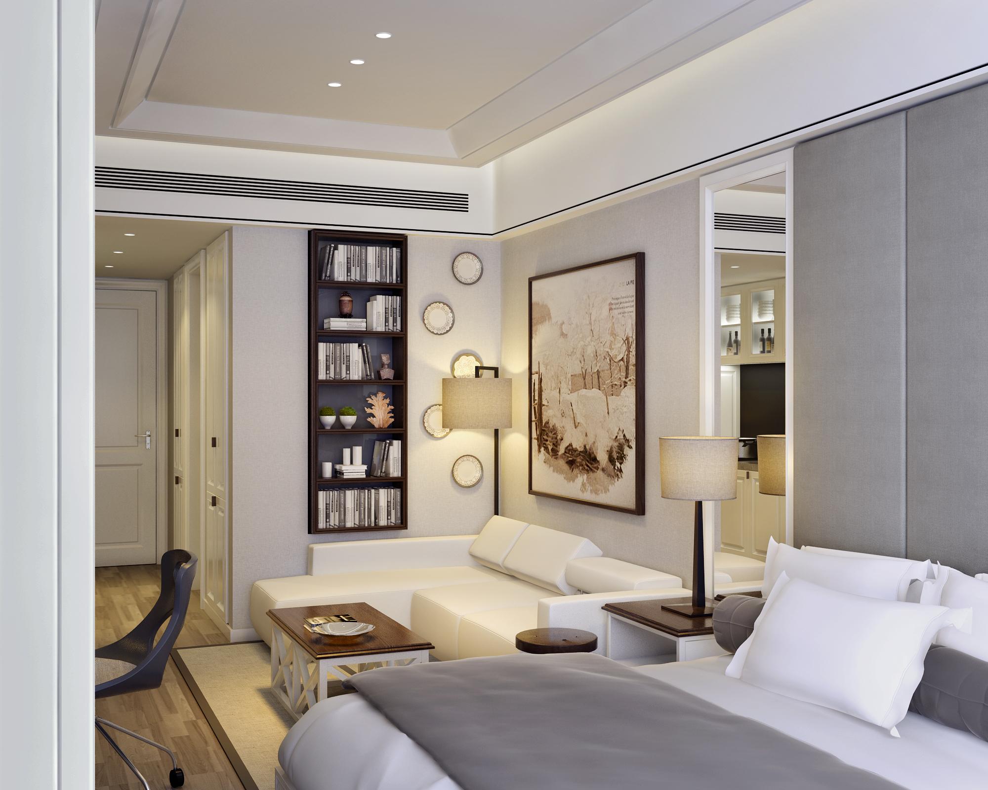 小户型样板间装修沙发背景墙设计