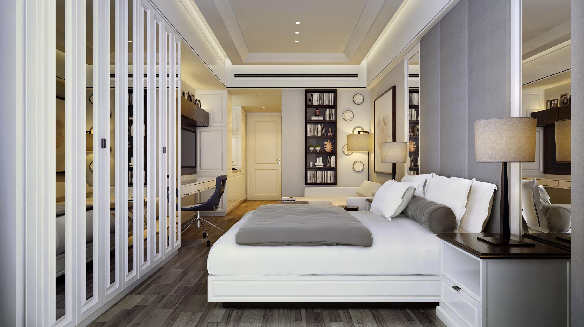 小户型样板间装修卧室效果图