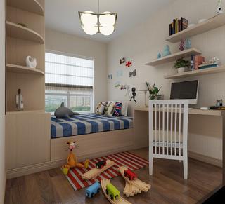 110平欧式风格装修儿童房设计图