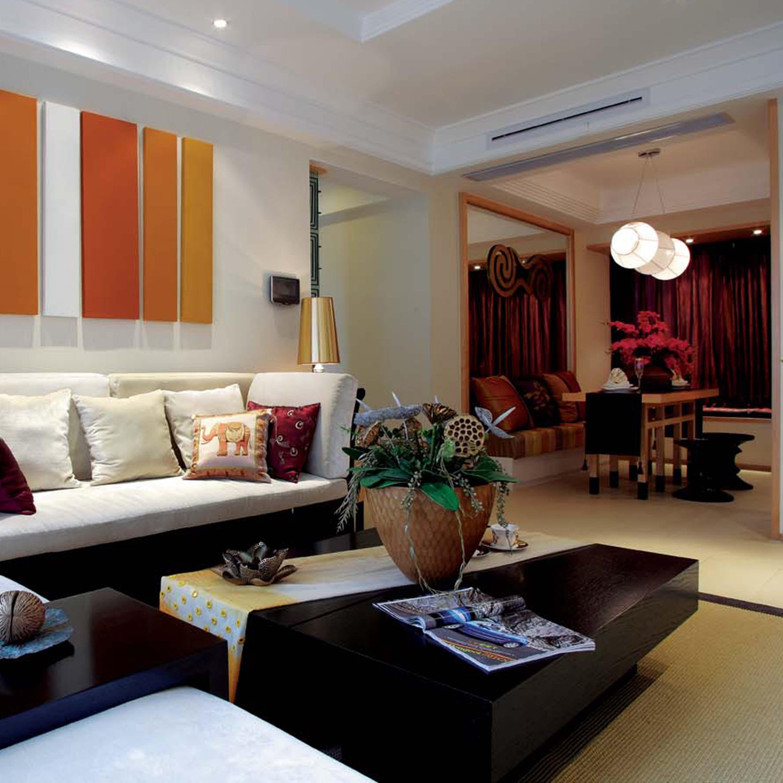 140平东南亚风格装修客厅效果图