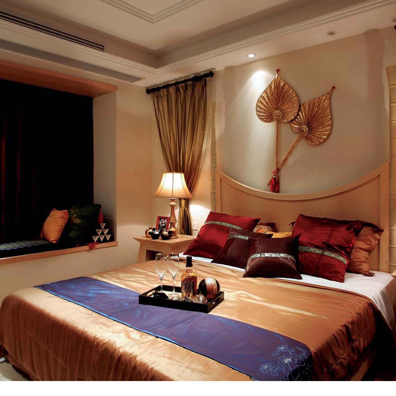 140平东南亚风格装修卧室欣赏图