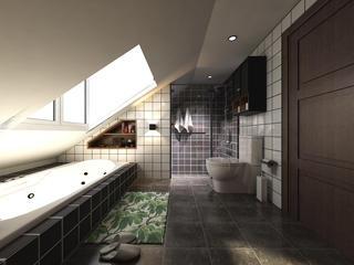 120平loft风格装修卫生间设计图