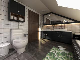120平loft风格装修浴室柜图片