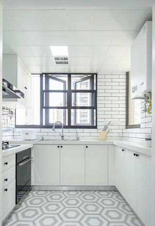 100平北欧风格家厨房构造图