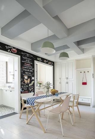 100平北欧风格家餐厅设计图