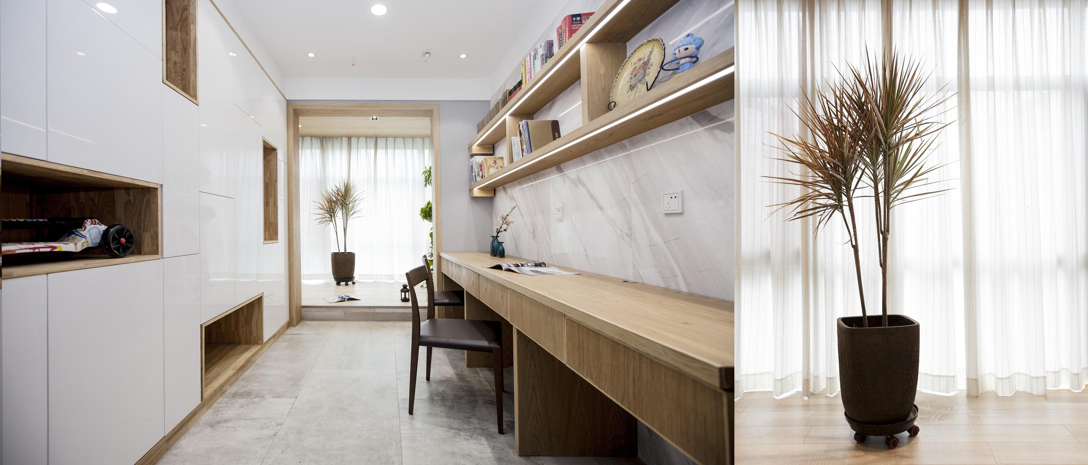简约中式三居设计书房效果图