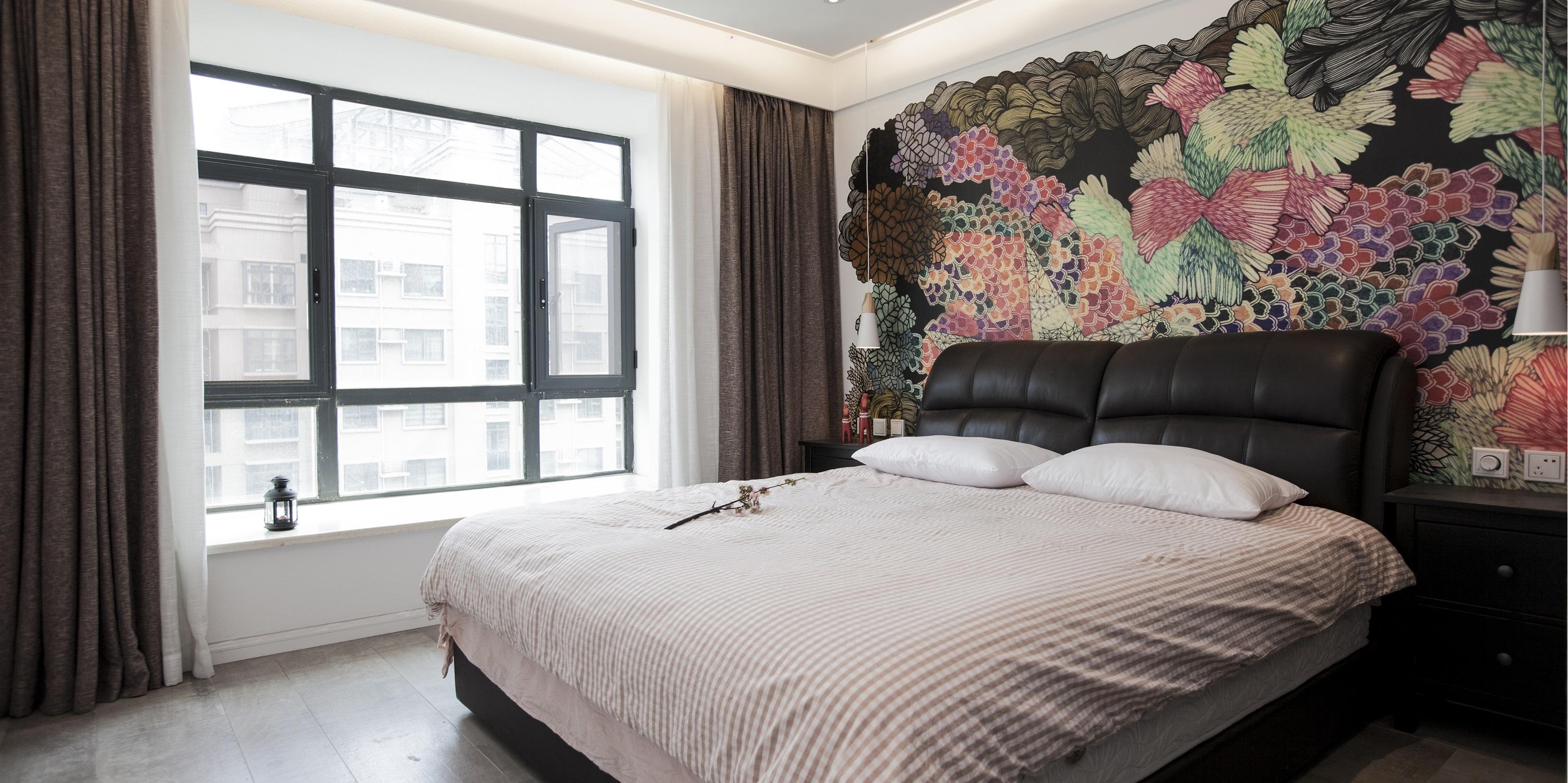 简约中式三居设计卧室效果图