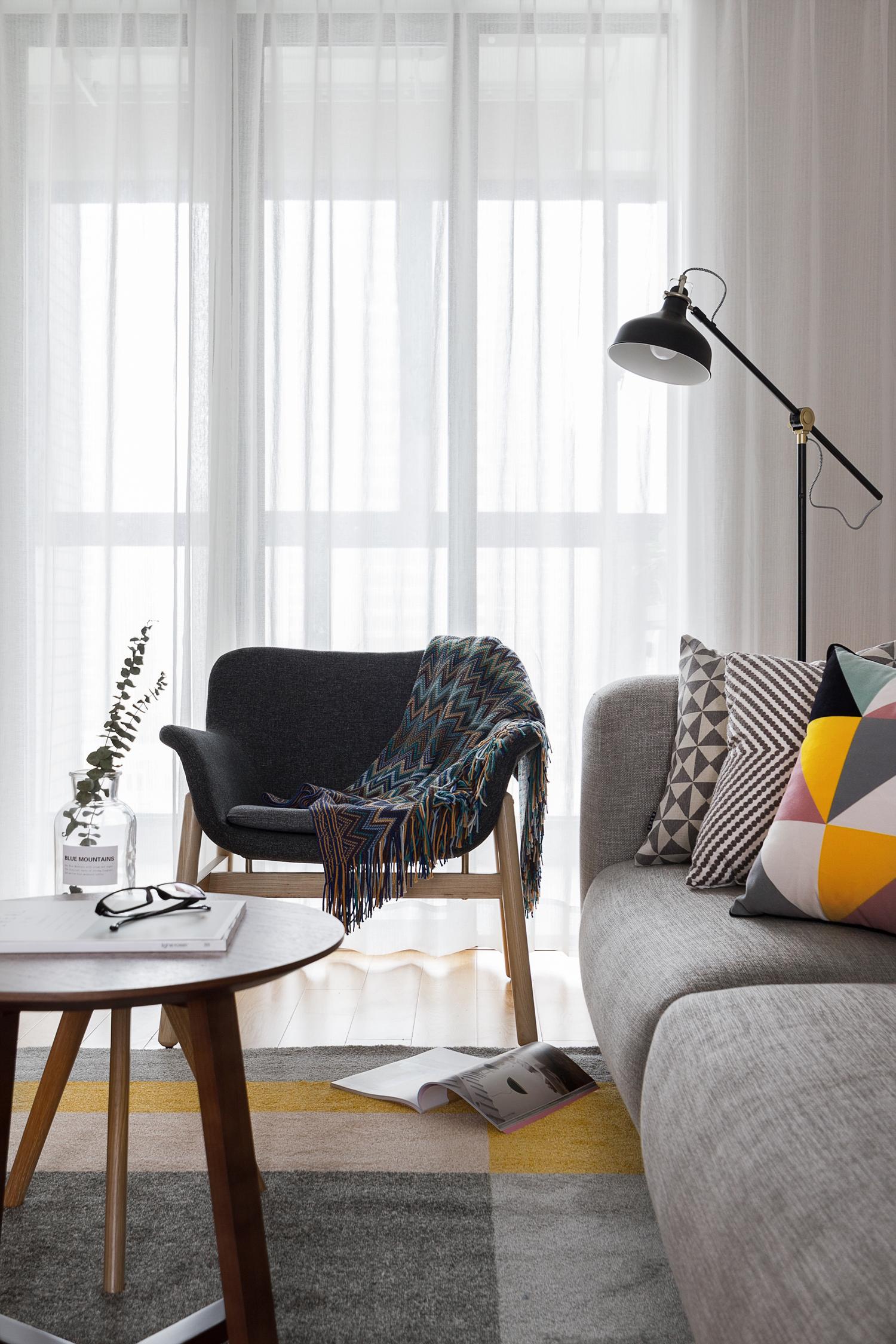 118㎡北欧风装修沙发椅图片