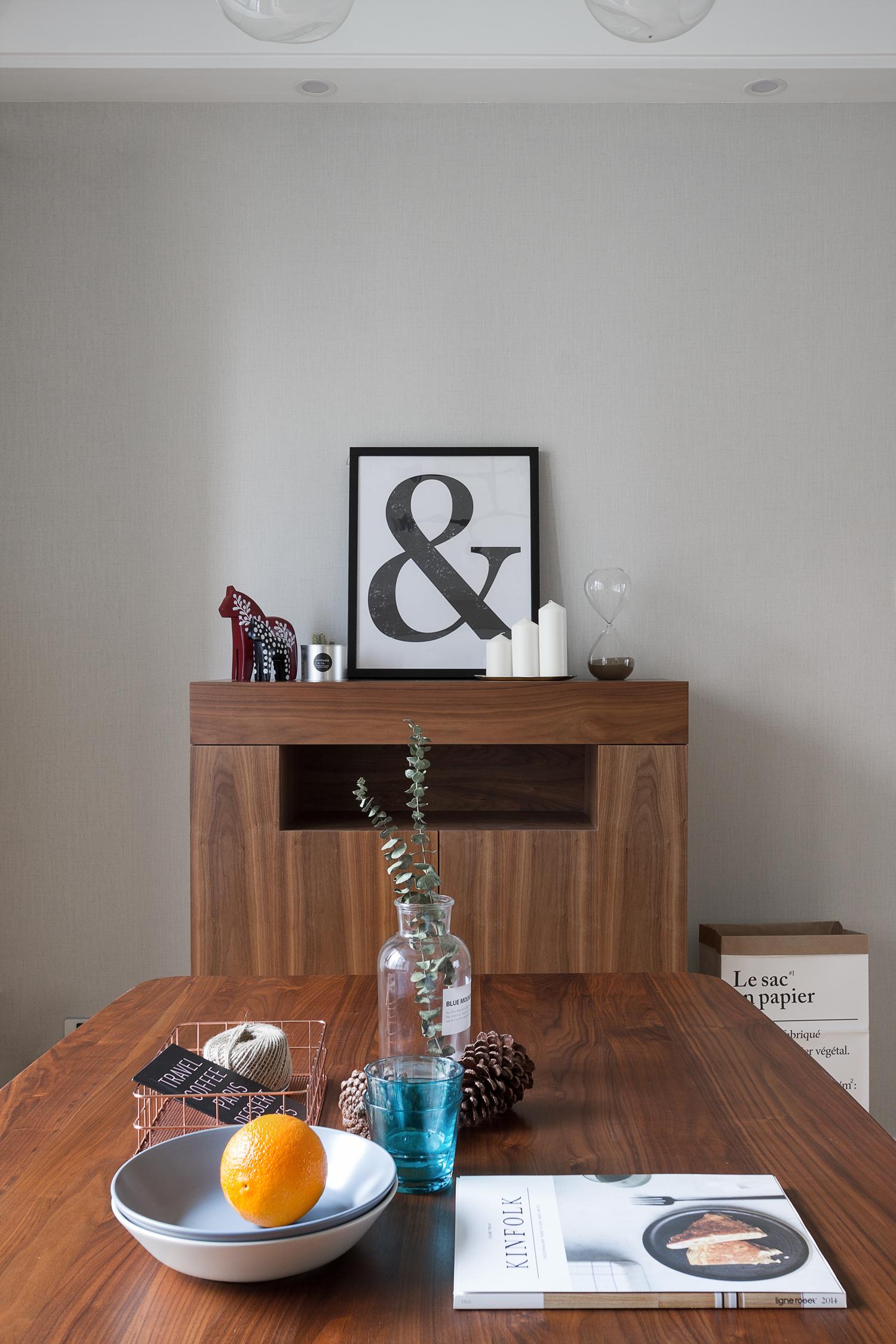 118㎡北欧风装修餐边柜图片