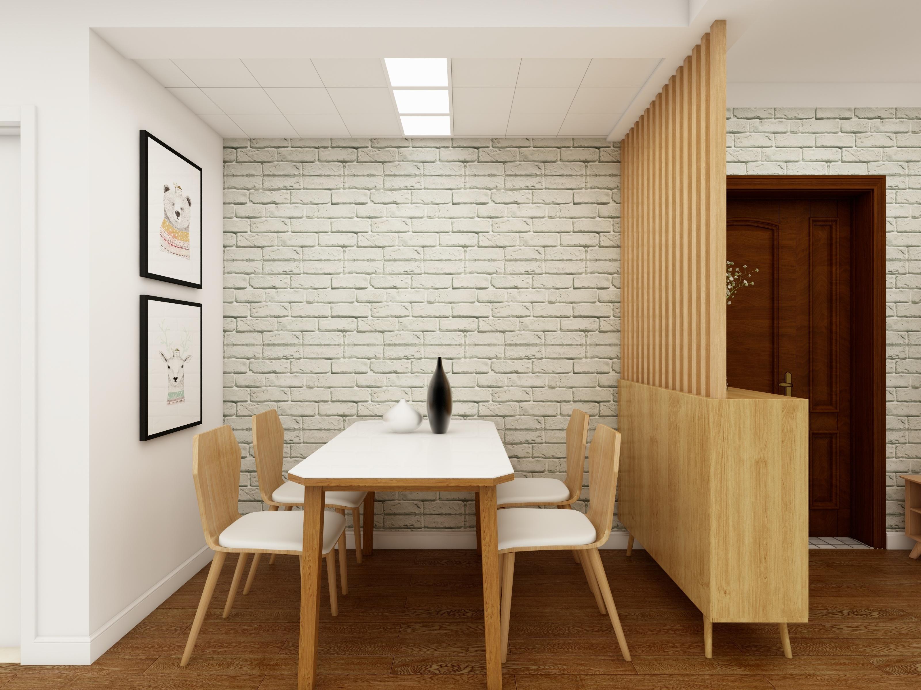 北欧三居装修餐厅效果图