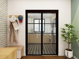 北欧三居装修厨房移门设计