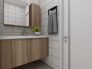北欧三居装修浴室柜图片