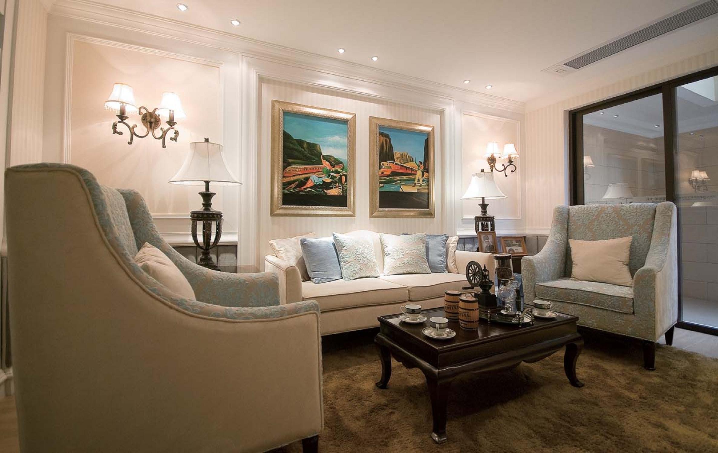 简美别墅装修沙发图片