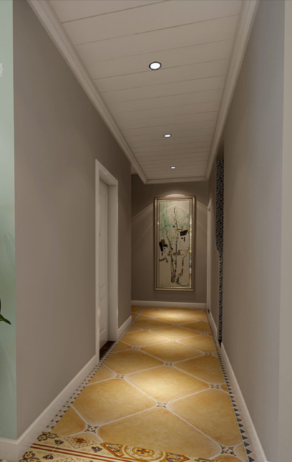 130㎡法式装修玄关走廊