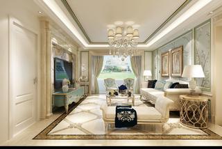 180㎡欧式风格家客厅欣赏图