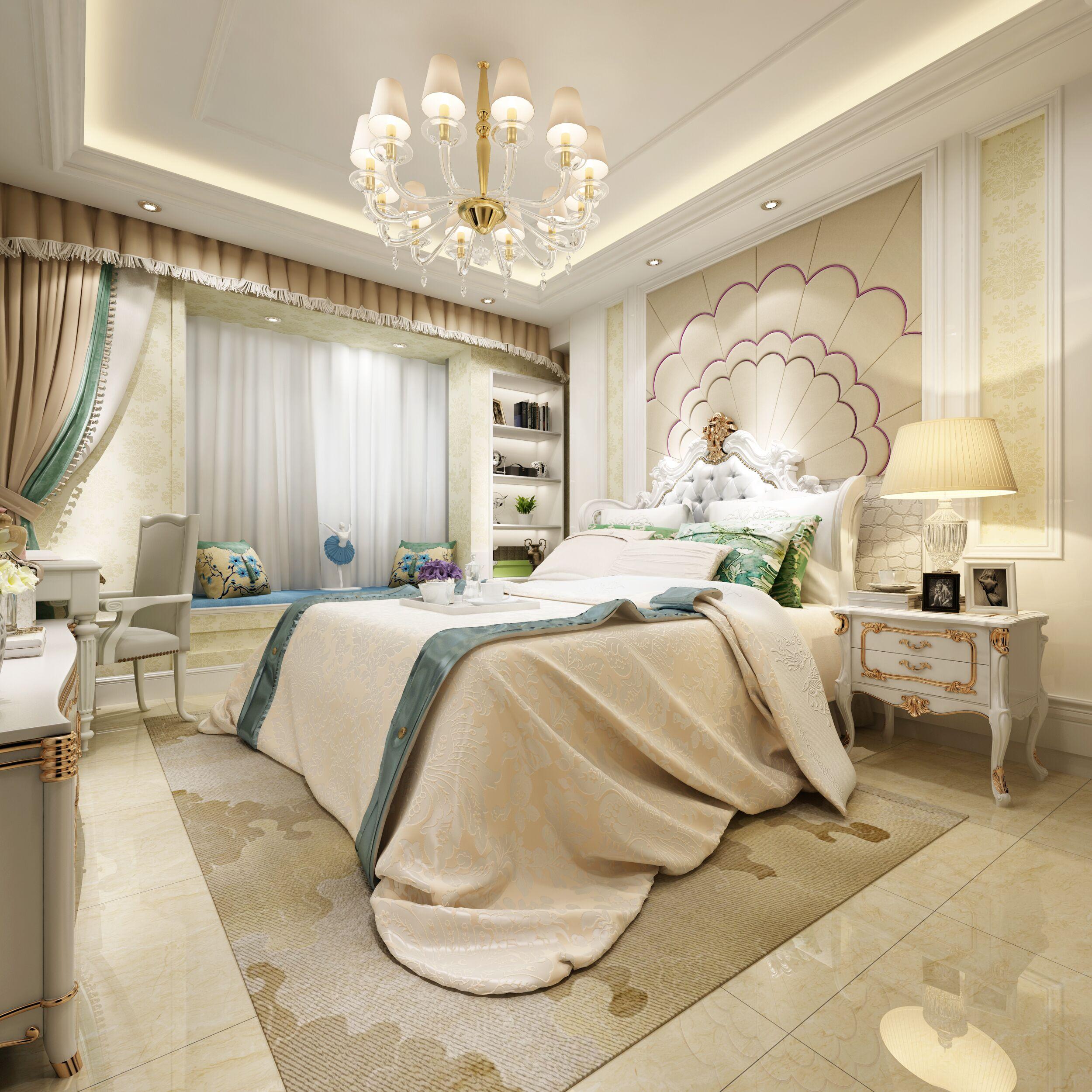 180㎡欧式风格家卧室效果图