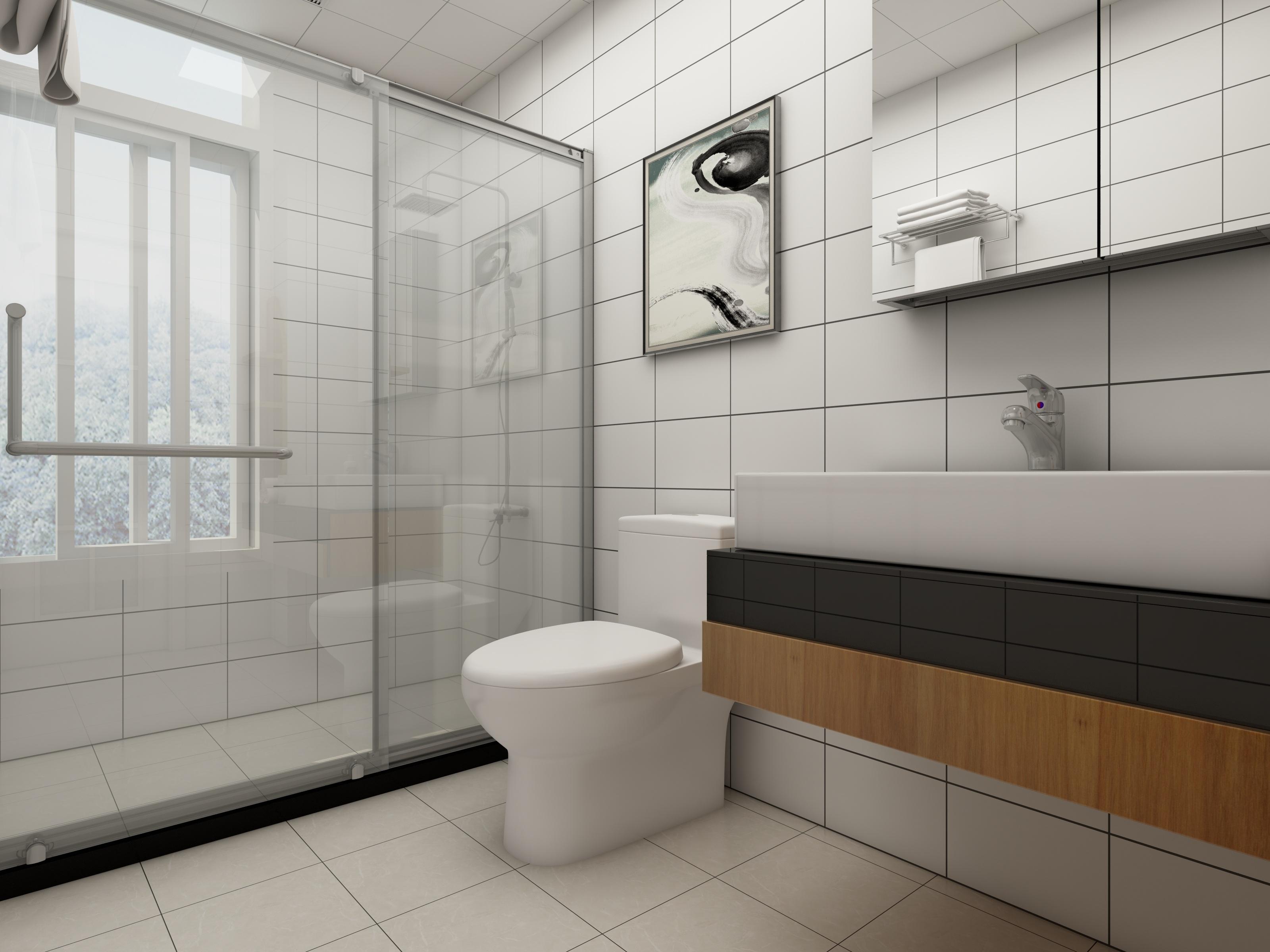 北欧四居装修卫生间效果图