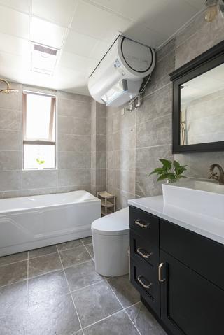 120平新中式设计卫生间装潢图