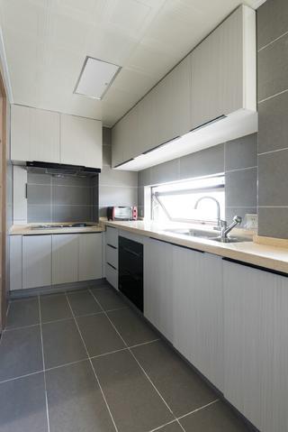 120平新中式设计厨房构造图