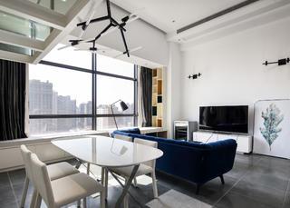 80平loft风格装修餐厅效果图